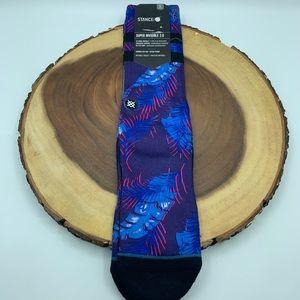 Stance Blue Palm Tree Mens Socks Sz 9-12.5